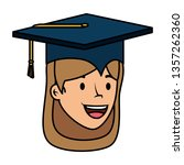 young student graduated girl... | Shutterstock .eps vector #1357262360