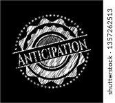 anticipation on blackboard | Shutterstock .eps vector #1357262513