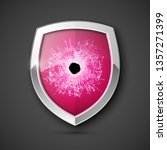protected guard bullet hole... | Shutterstock .eps vector #1357271399
