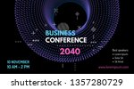 3d grid design. business event... | Shutterstock .eps vector #1357280729