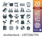 shopping icons set   set of 20... | Shutterstock .eps vector #1357282793