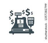 cash register machine vector | Shutterstock .eps vector #1357282799