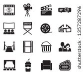 cinema icons. set 2. black flat ... | Shutterstock .eps vector #1357287296