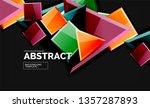 glossy mosaic style geometric... | Shutterstock .eps vector #1357287893