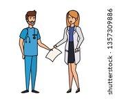 couple of professionals doctor...   Shutterstock .eps vector #1357309886