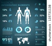 medical infographic elements | Shutterstock .eps vector #135731138