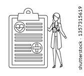 female doctor with stethoscope...   Shutterstock .eps vector #1357315619
