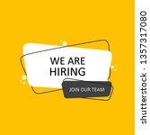 we are hiring. geometric hand... | Shutterstock .eps vector #1357317080