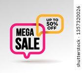 mega sale banner template... | Shutterstock .eps vector #1357320026