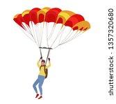 parachutist. skydiving. vector...   Shutterstock .eps vector #1357320680