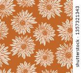aster dahlia flowers white on... | Shutterstock .eps vector #1357321343
