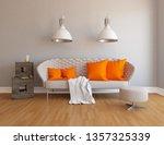 idea of a white scandinavian... | Shutterstock . vector #1357325339