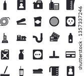 solid vector icon set   pipes...   Shutterstock .eps vector #1357337246