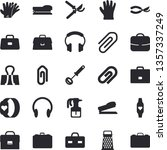 solid vector icon set   whisk...   Shutterstock .eps vector #1357337249