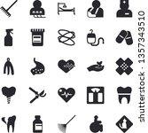 solid vector icon set   towel...   Shutterstock .eps vector #1357343510