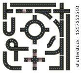 traffic interchange kit. set of ...   Shutterstock .eps vector #1357352510