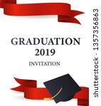 graduation 2019 invitation... | Shutterstock .eps vector #1357356863