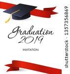 graduation 2019 invitation... | Shutterstock .eps vector #1357356869