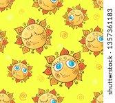 cheerful children's seamless... | Shutterstock .eps vector #1357361183