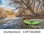 whitewater inflatable kayak... | Shutterstock . vector #1357362860