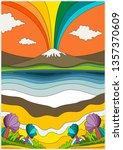 1960s psychedelic pattern ...   Shutterstock .eps vector #1357370609