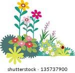 flower | Shutterstock .eps vector #135737900