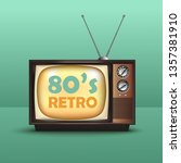 realistic tv retro style.80's... | Shutterstock .eps vector #1357381910