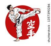 Karate Kick. Martial Arts....