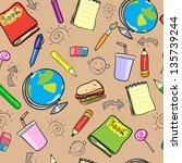 seamless school background ... | Shutterstock . vector #135739244