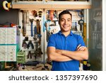 portrait of asian repairman... | Shutterstock . vector #1357397690