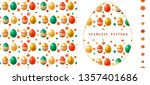 seamless pattern with bright...   Shutterstock .eps vector #1357401686
