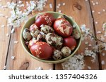 Quail And Easter Eggs Dyed Wit...