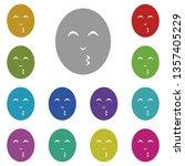 emoji kiss multi color icon....