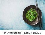 tasty appetizing seaweed salad... | Shutterstock . vector #1357410329