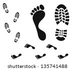 Footprint. Isolated Icons On...