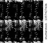 grunge black and white texture. ... | Shutterstock .eps vector #1357427636