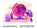 traveling the world  worldwide... | Shutterstock .eps vector #1357428746