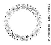 hand drawn christmas snowflakes ... | Shutterstock .eps vector #1357444583