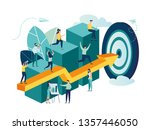 vector illustration  people run ... | Shutterstock .eps vector #1357446050