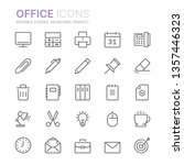 collection of office line icons....   Shutterstock .eps vector #1357446323