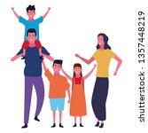 family and kids cartoons... | Shutterstock .eps vector #1357448219