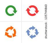 4 arrow pictogram refresh ...