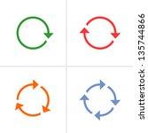 4 arrow pictogram refresh ... | Shutterstock . vector #135744866