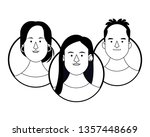 young people face round icons... | Shutterstock .eps vector #1357448669