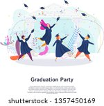 graduation party. group of... | Shutterstock .eps vector #1357450169