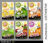 food label set stickers... | Shutterstock .eps vector #1357458749