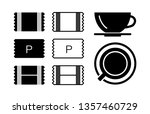 sugar sachet icon or container... | Shutterstock .eps vector #1357460729