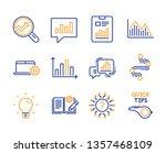 graph chart  light bulb and... | Shutterstock .eps vector #1357468109