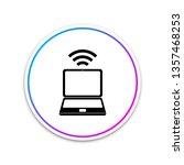 laptop and wireless icon... | Shutterstock .eps vector #1357468253