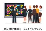 business team man and woman... | Shutterstock .eps vector #1357479170